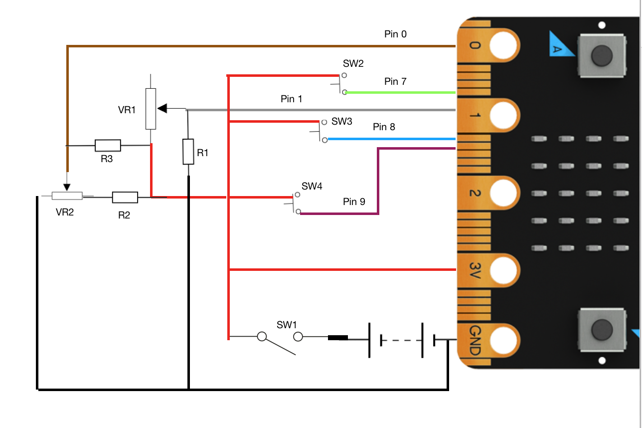 micro:bit controller overview  circuit diagram